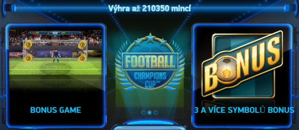 Football: Champions Cup - automat s 50 hrami zdarma